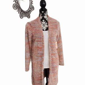 NWT Candie's Eyelash Fabric Cardigan, Size Small